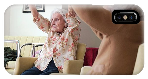 Assisted Living iPhone Case - Exercise Class At A Care Home by John Cole/science Photo Library