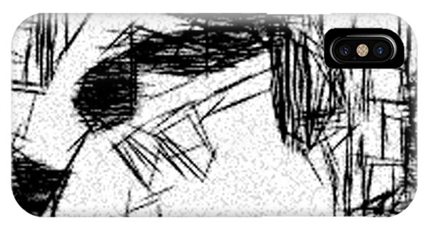 Etch-a-sketch iPhone Case - Existential Despair by Jonathan Harnisch