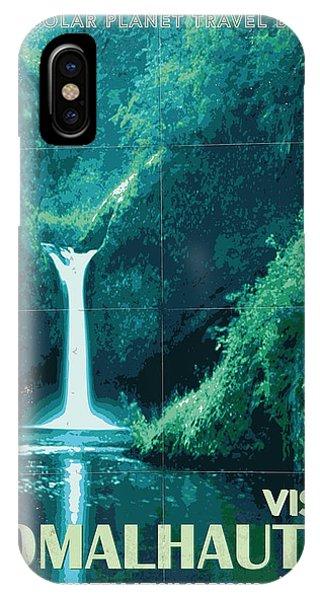 Nasa iPhone Case - Exoplanet 04 Travel Poster Fomalhaut B by Chungkong Art