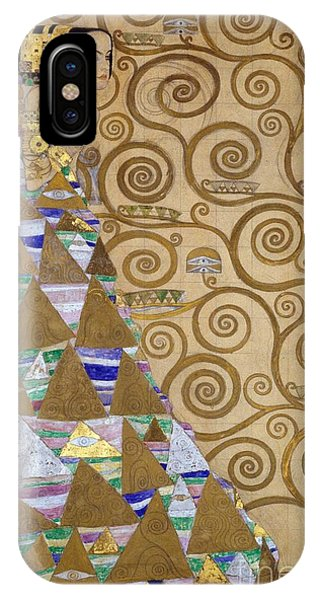 Golden iPhone Case - Expectation Preparatory Cartoon For The Stoclet Frieze by Gustav Klimt