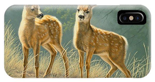 Mule Deer iPhone Case - Explorers by Paul Krapf