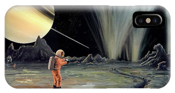 Exploring Enceladus Phone Case by Richard Bizley
