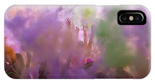 IPhone Case featuring the photograph Explosion Of Colour by Debbie Cundy