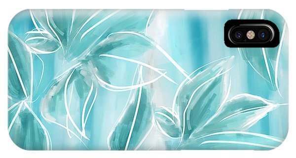 Cobalt Blue iPhone Case - Exquisite Bloom by Lourry Legarde