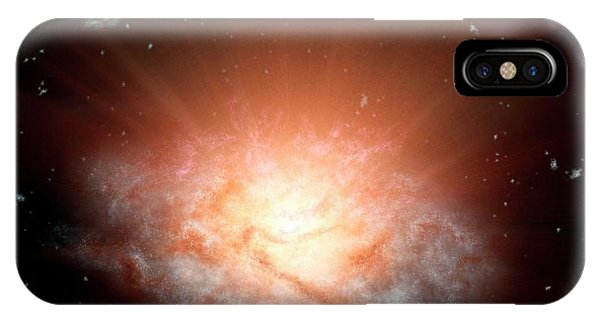 Astrophysical iPhone Case - Extremely Luminous Infrared Galaxy by Nasa