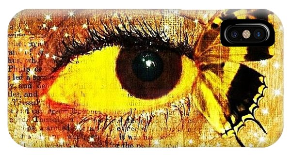 Edit iPhone Case - #eye #butterfly #brown #black #edit by Tatyanna Spears