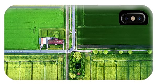 Farm Landscape iPhone Case - Eye Of The Sky by Zhou Chengzhou