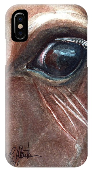 IPhone Case featuring the painting Eyebrow Cat by Linda L Martin