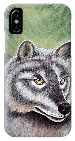 Eyes Of The Forest - Grey Wolf IPhone Case