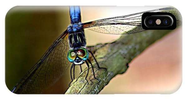 Eyes On You Dragonfly Phone Case by Sheri McLeroy