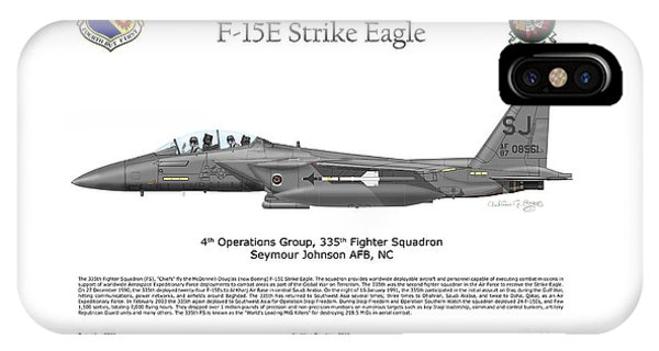 F-15e Strike Eagle 335th Fs IPhone Case