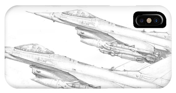 F-16's On Attack IPhone Case
