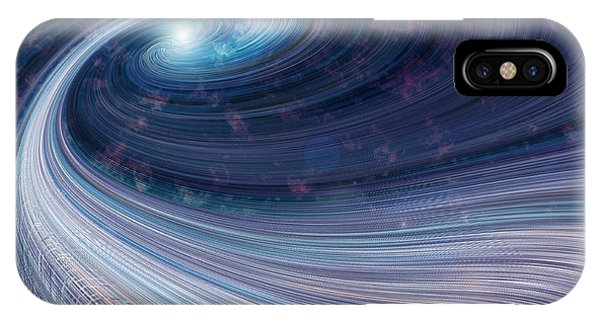 IPhone Case featuring the digital art Fabric Of Space by Fran Riley