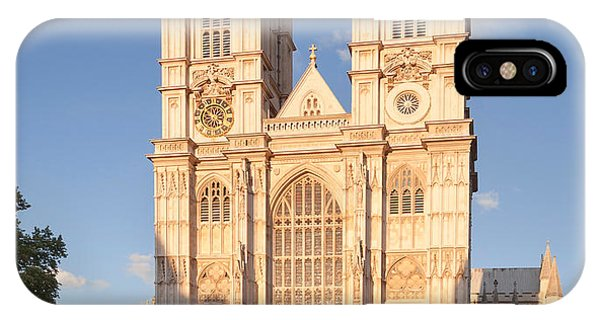 Facade Of A Cathedral, Westminster IPhone Case
