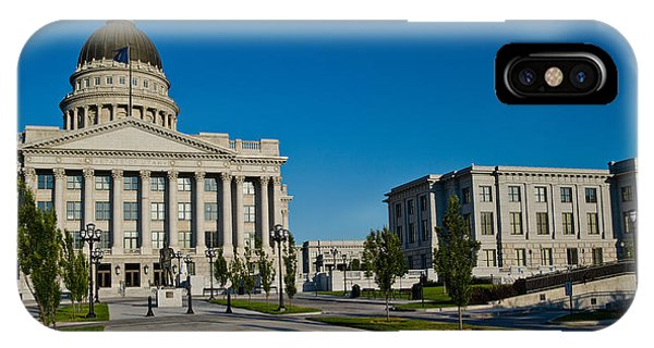 Capitol Building iPhone Case - Facade Of A Government Building, Utah by Panoramic Images