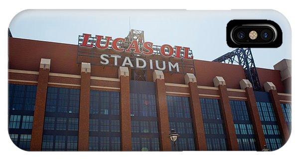 Facade Of The Lucas Oil Stadium IPhone Case