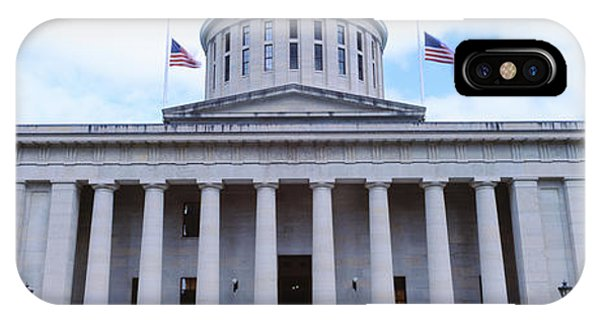 Capitol Building iPhone Case - Facade Of The Ohio Statehouse by Panoramic Images
