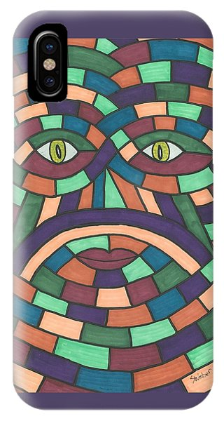 Face In The Maze IPhone Case