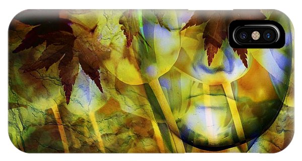 Imagery iPhone Case - Face In The Rock Dreams Of Tulips by Elizabeth McTaggart