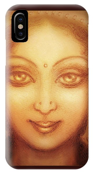Face Of The Goddess/ Durga Face IPhone Case