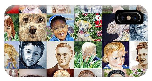 Watercolor Pet Portraits iPhone Case - Facebook Of Faces by Irina Sztukowski