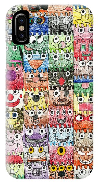 Faces Puzzle Poster IPhone Case