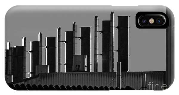 Factory Chimneys On The Roofs IPhone Case