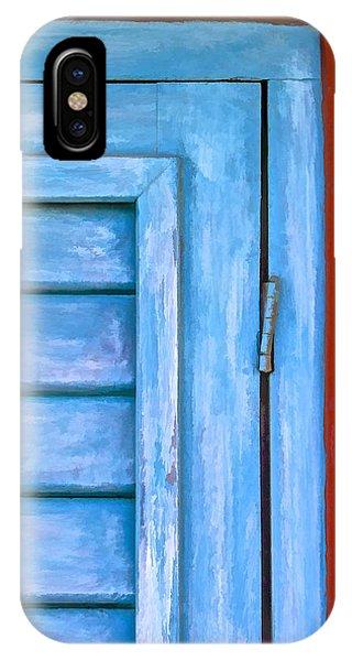 Faded Blue Shutter IIi IPhone Case
