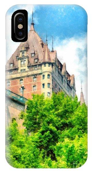 Quebec City iPhone Case - Fairmont Le Chateau Frontenac by Edward Fielding