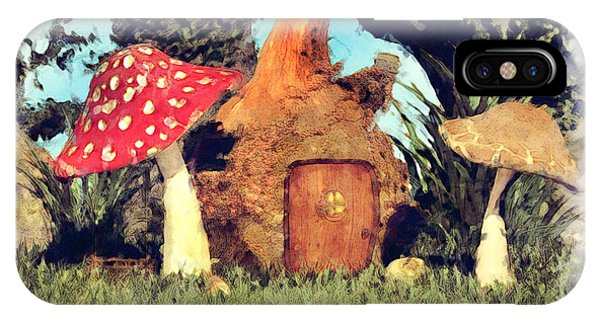 Fairy House With Toadstool IPhone Case