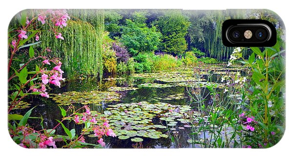 Fairy Tale Pond With Water Lilies And Willow Trees IPhone Case