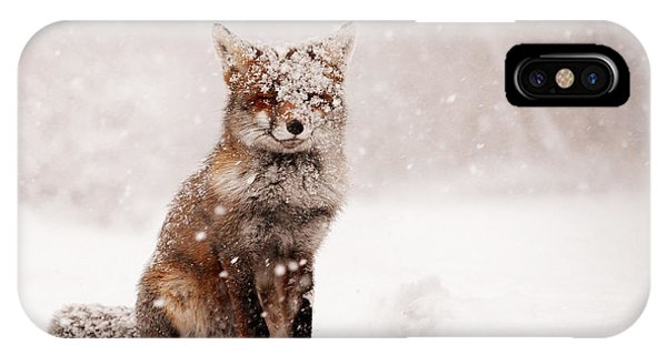 Winter iPhone Case - Fairytale Fox _ Red Fox In A Snow Storm by Roeselien Raimond