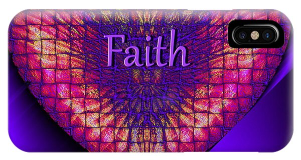 IPhone Case featuring the digital art Faith by Visual Artist Frank Bonilla
