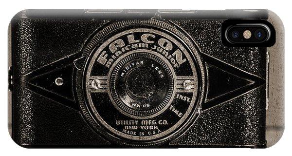 Novelty iPhone Case - Falcon Minicam Junior by Jon Woodhams