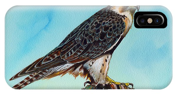 Falcon On Stump IPhone Case