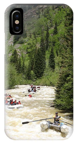 Anima iPhone Case - White Water Rafting On The Animas by Jack Pumphrey