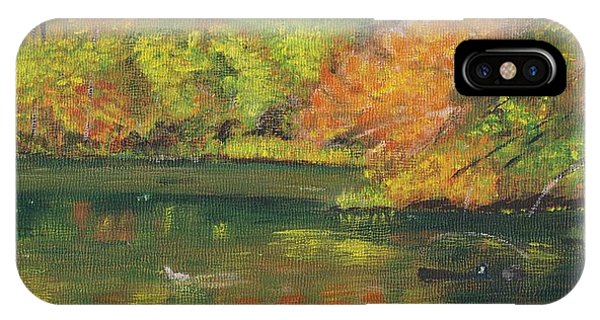 Fall At Dorrs Pond IPhone Case