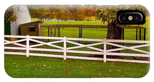 Fall At Eisenhower Farm IPhone Case