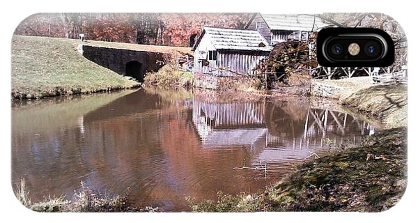 Fall At Mabry Mill By Angelia H Clay IPhone Case