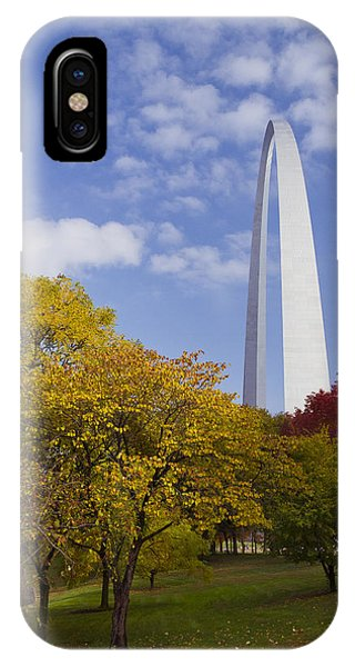 Fall At The St Louis Arch IPhone Case