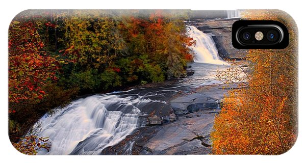 Fall At Triple Falls IPhone Case