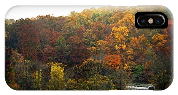 Covered Bridge iPhone Case - Fall At Valley Forge by Skip Willits