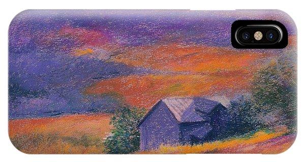 Fall Barn Pastel Landscape IPhone Case