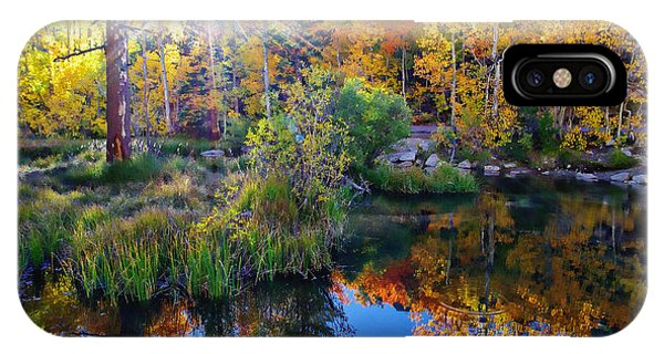Fall Color Reflection Along Bishop Creek IPhone Case
