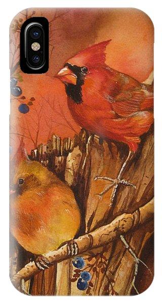 Fall Companions Phone Case by Cheryl Borchert