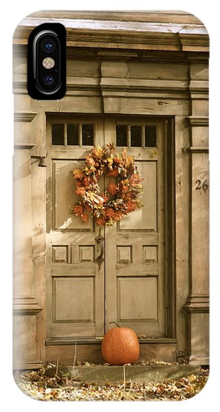 Traditional Fall Decor In New England IPhone Case