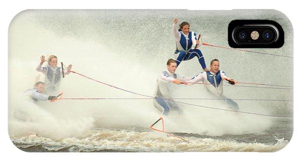 Fall During Waterskiing Phone Case by Devinder Sangha