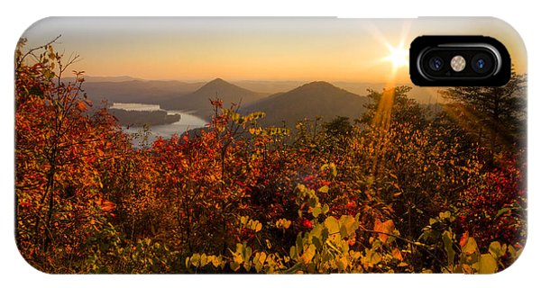 Chilhowee iPhone Case - Fall Foliage by Debra and Dave Vanderlaan