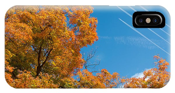 Jet iPhone Case - Fall Foliage With Jet Planes by Tom Mc Nemar