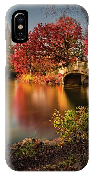 Colourful iPhone Case - Fall In Central Park by Christopher R. Veizaga